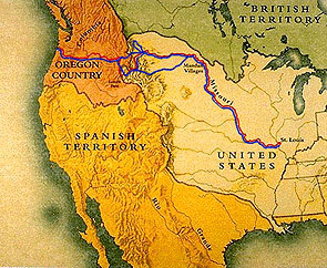 At The Beginning Of The 19th Century United States Were Between The Northern British Territories And The Southern Territories Of The Reign Of Spain